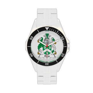 Escudo de la familia de la inundación relojes de pulsera