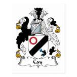 Escudo de la familia de la isleta postales
