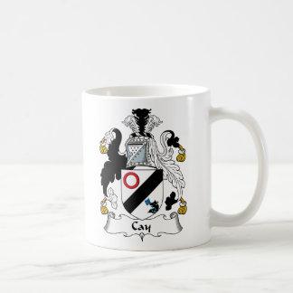 Escudo de la familia de la isleta tazas de café