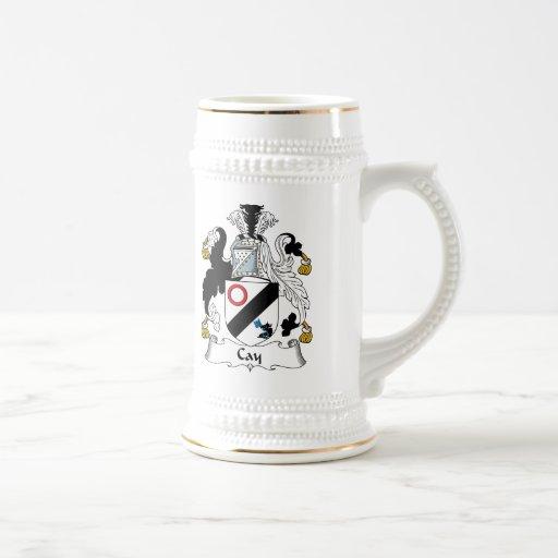 Escudo de la familia de la isleta taza