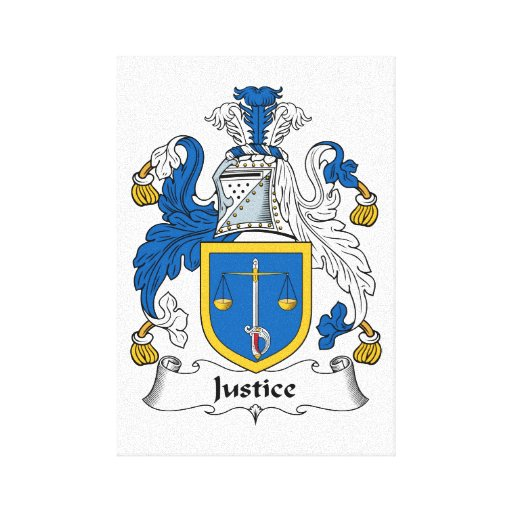 Escudo de la familia de la justicia lienzo envuelto para galerías