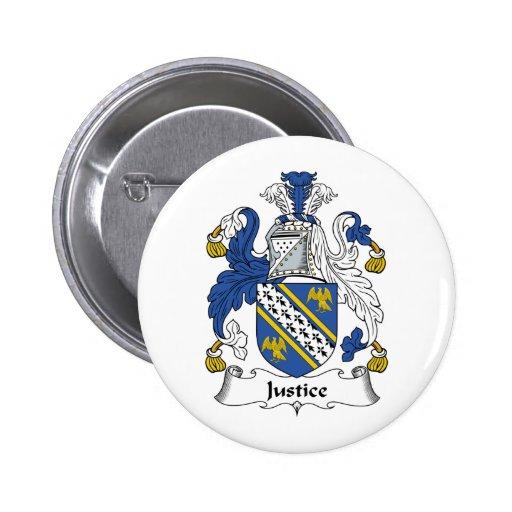 Escudo de la familia de la justicia pin