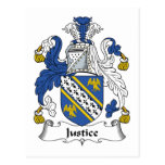 Escudo de la familia de la justicia postales