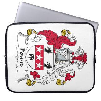 Escudo de la familia de la libra mangas portátiles