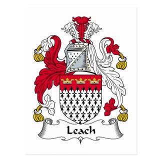 Escudo de la familia de la lixiviación postales
