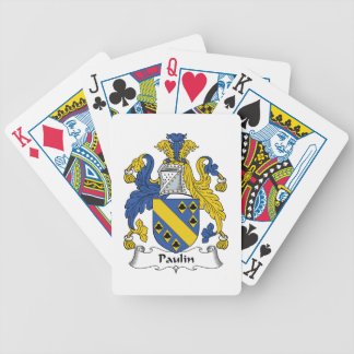 Escudo de la familia de la lona baraja de cartas