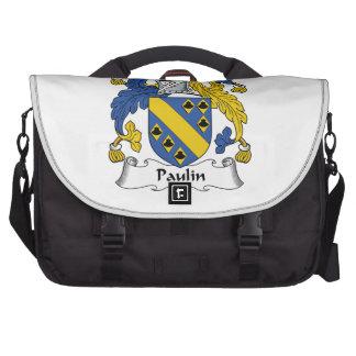 Escudo de la familia de la lona bolsas para ordenador