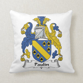 Escudo de la familia de la lona cojin