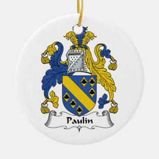 Escudo de la familia de la lona adorno redondo de cerámica