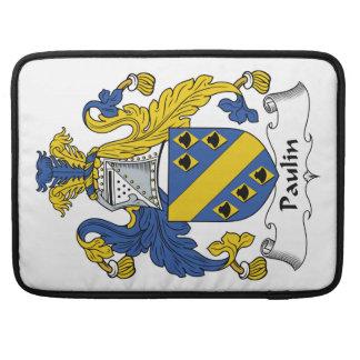 Escudo de la familia de la lona fundas macbook pro