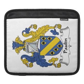 Escudo de la familia de la lona fundas para iPads