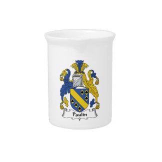 Escudo de la familia de la lona jarras para bebida