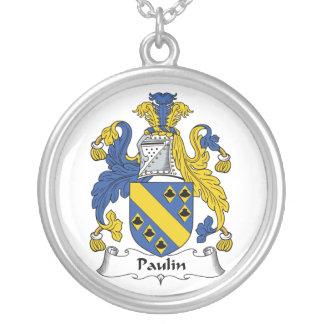 Escudo de la familia de la lona pendientes