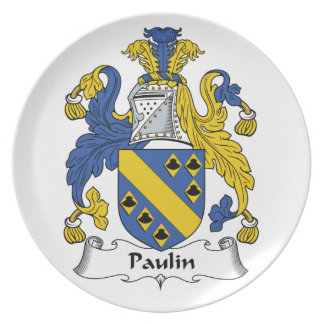 Escudo de la familia de la lona platos