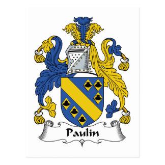 Escudo de la familia de la lona postal