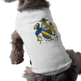 Escudo de la familia de la lona ropa para mascota
