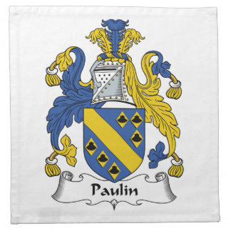 Escudo de la familia de la lona servilleta imprimida