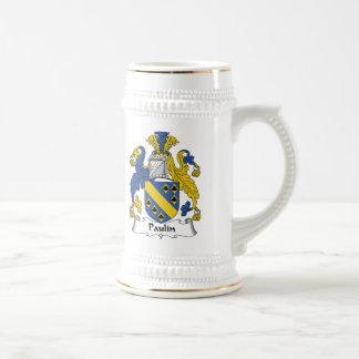Escudo de la familia de la lona tazas de café