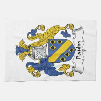 Escudo de la familia de la lona toalla
