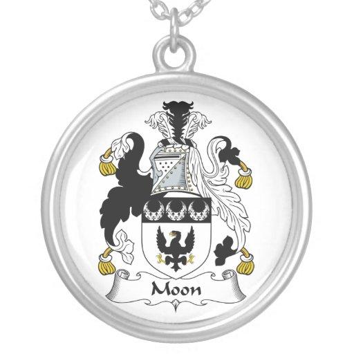 Escudo de la familia de la luna joyeria personalizada