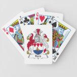 Escudo de la familia de la manada baraja cartas de poker
