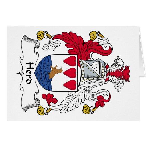 Escudo de la familia de la manada tarjeton