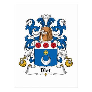 Escudo de la familia de la mancha blanca /negra tarjeta postal