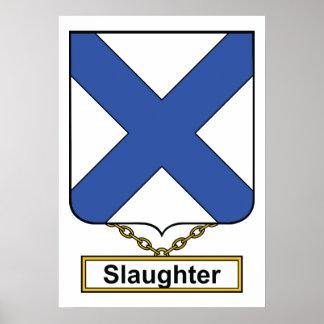 Escudo de la familia de la matanza póster