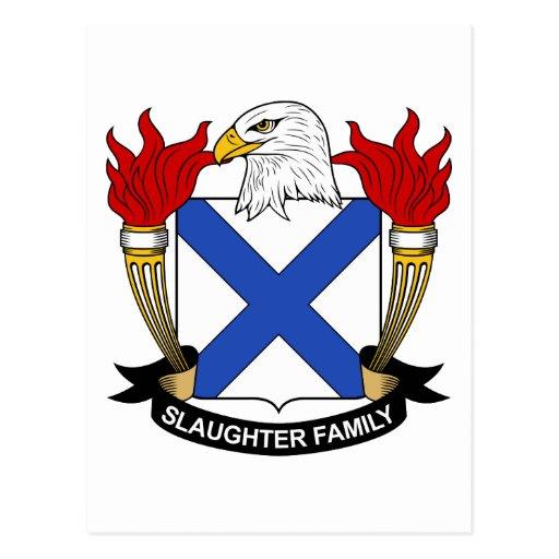 Escudo de la familia de la matanza tarjeta postal