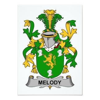 Escudo de la familia de la melodía anuncio personalizado