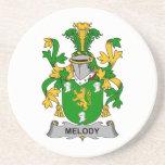 Escudo de la familia de la melodía posavasos diseño