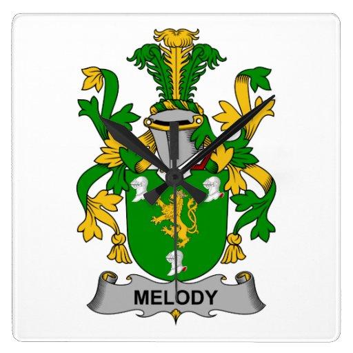 Escudo de la familia de la melodía reloj de pared