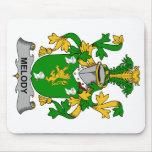 Escudo de la familia de la melodía alfombrilla de raton