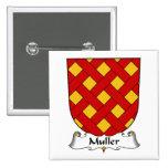 Escudo de la familia de la moleta pin