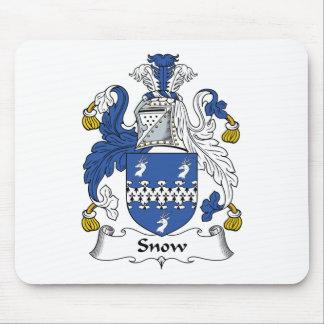 Escudo de la familia de la nieve alfombrillas de ratones