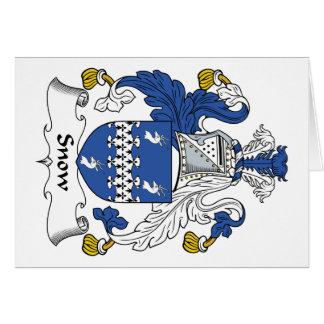 Escudo de la familia de la nieve tarjetas