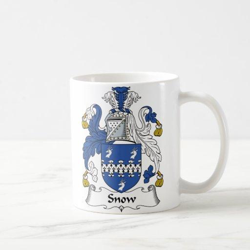 Escudo de la familia de la nieve taza clásica