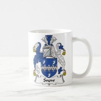 Escudo de la familia de la nieve tazas de café