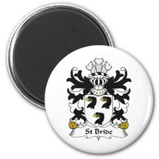 Escudo de la familia de la novia del St Imán Redondo 5 Cm