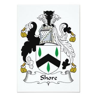 Escudo de la familia de la orilla invitación