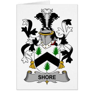 Escudo de la familia de la orilla tarjeta de felicitación