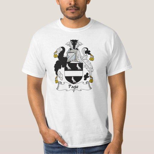 Escudo de la familia de la página camisas