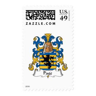 Escudo de la familia de la página sellos