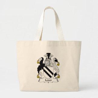 Escudo de la familia de la palanca bolsas lienzo