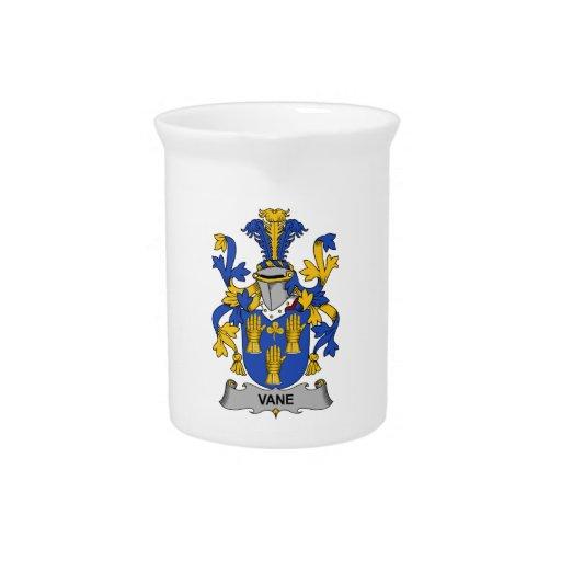 Escudo de la familia de la paleta jarra para bebida