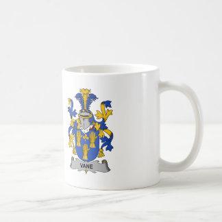 Escudo de la familia de la paleta taza de café