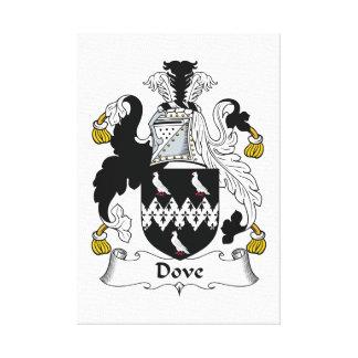 Escudo de la familia de la paloma impresión de lienzo