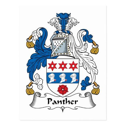Escudo de la familia de la pantera postal