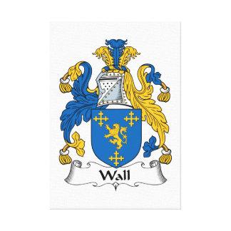 Escudo de la familia de la pared lona estirada galerias
