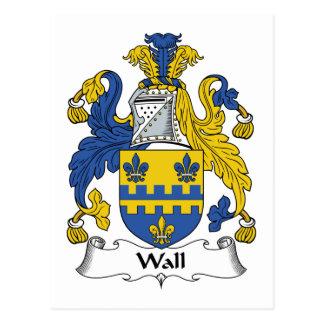 Escudo de la familia de la pared postales